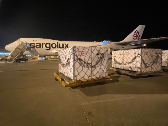 Cargolux & SkyCell Containers Shipment ready for their shipment to Brazil
