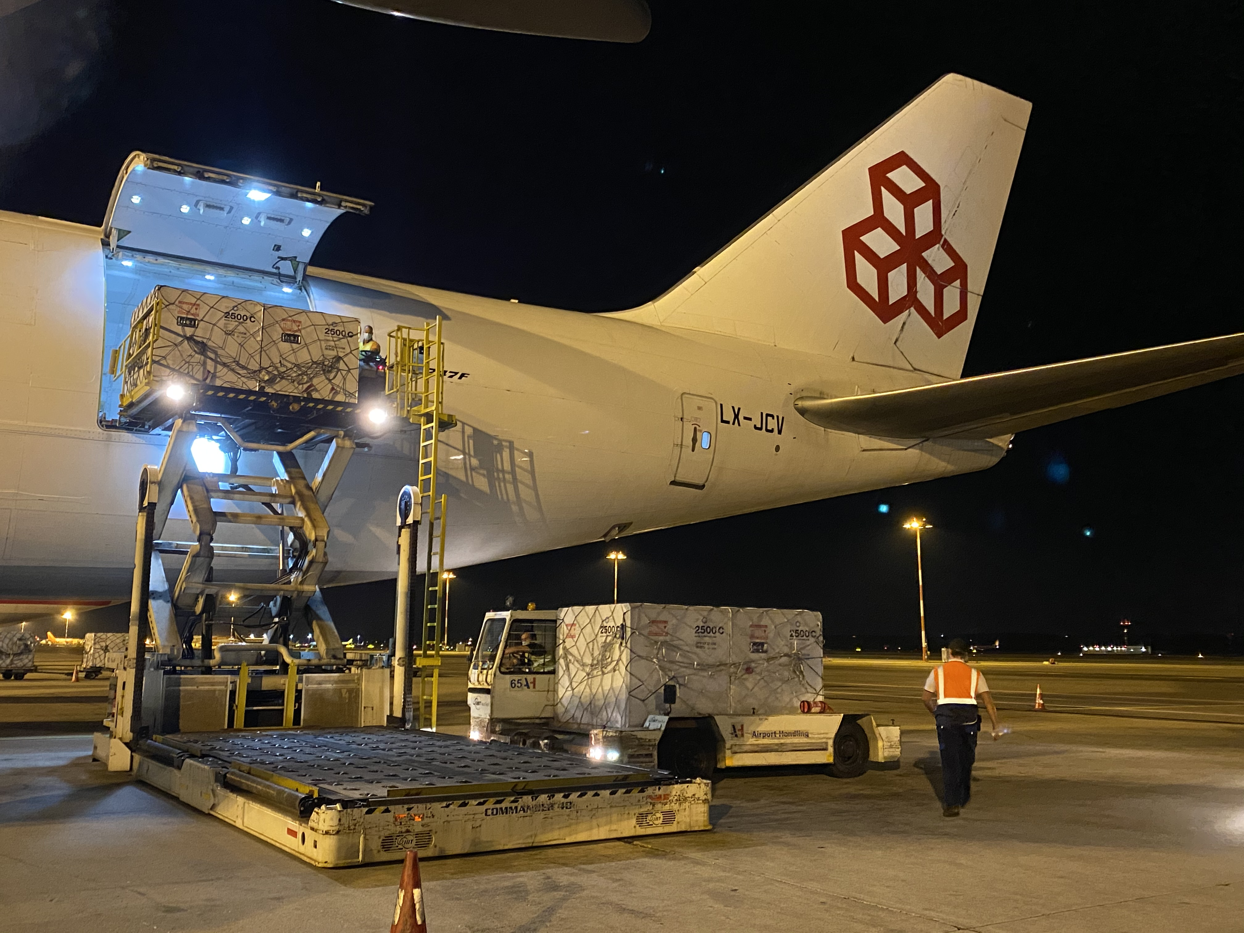Charter plane for vaccine shipment to Brazilian Government
