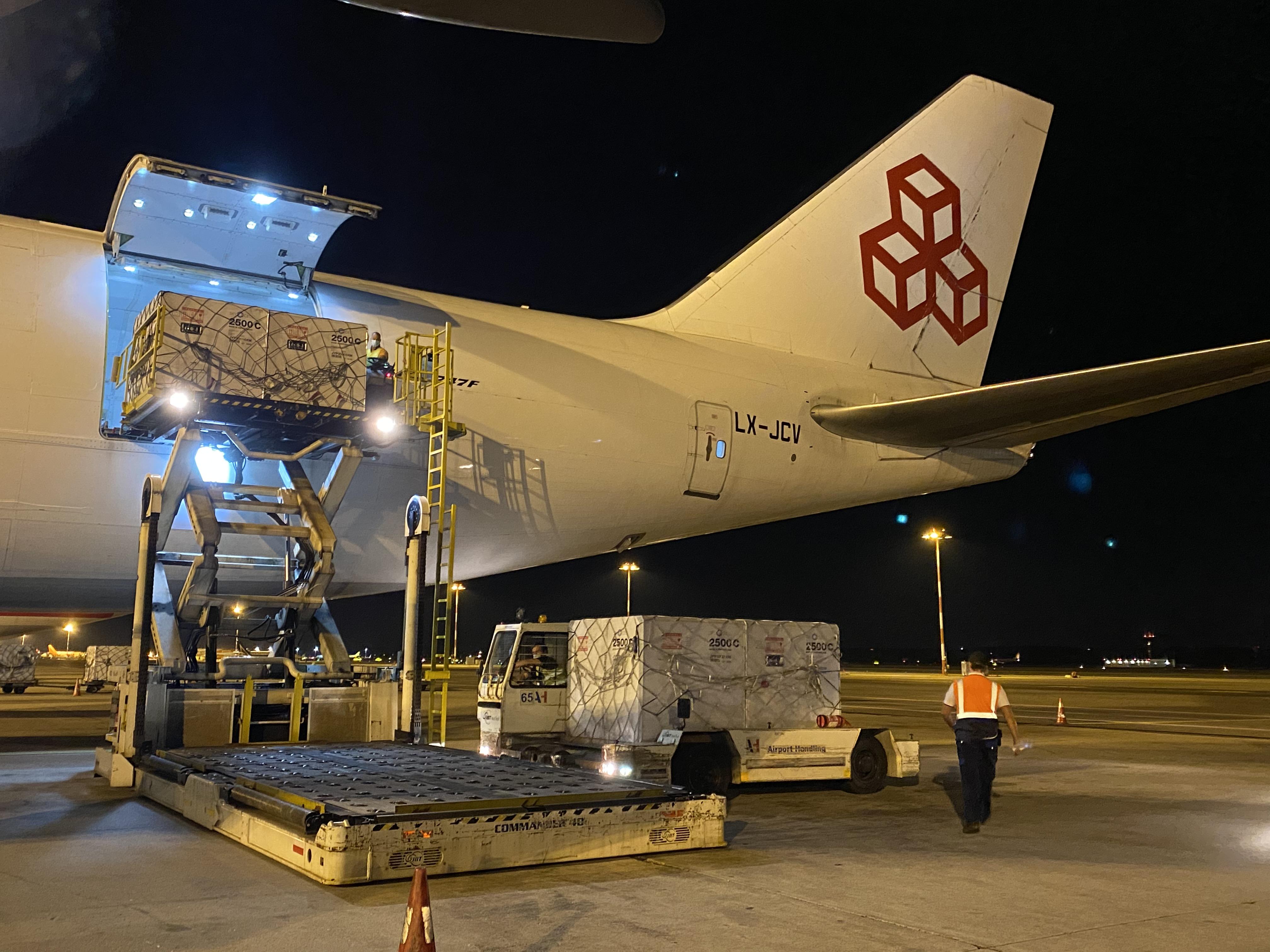 Charter plane for vaccine shipment to Brazilian Government